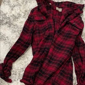 Thick red and black flannel